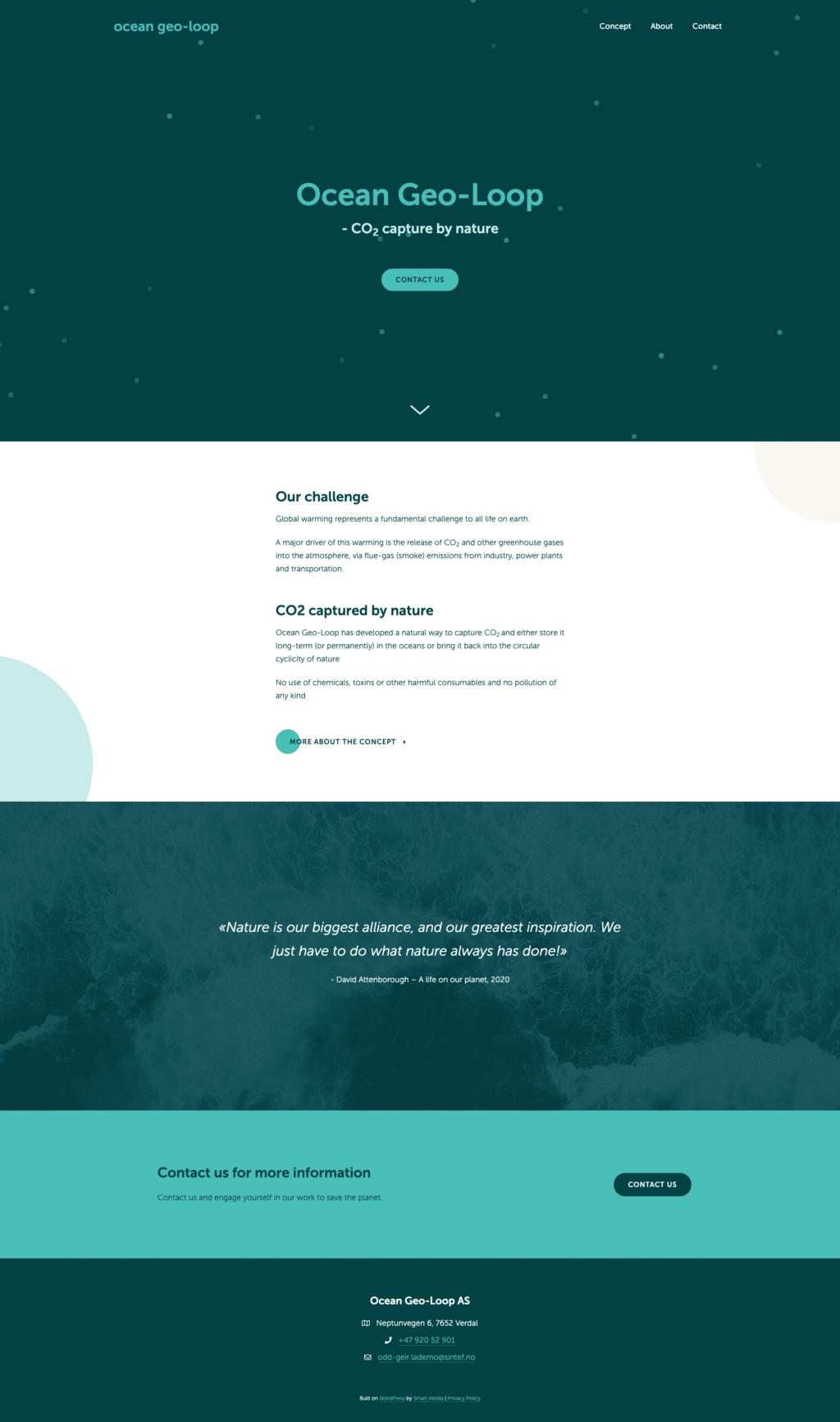 Ocean Geo-Loop design fra nettside